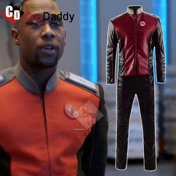 Cosdaddy The Orville Uniform Costume Red Leather J...