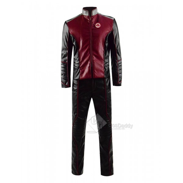 Cosdaddy The Orville Uniform Costume Red Leather Jacket Full Set Cosplay