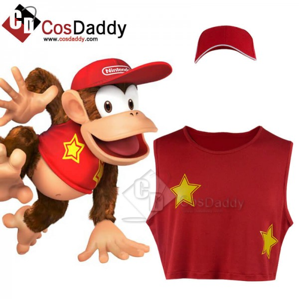 Super Smash Bros T-shirt Red Cosplay Costume Hallo...