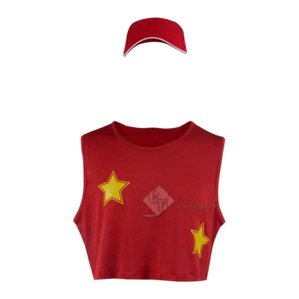 Super Smash Bros T-shirt Red Cosplay Costume Halloween