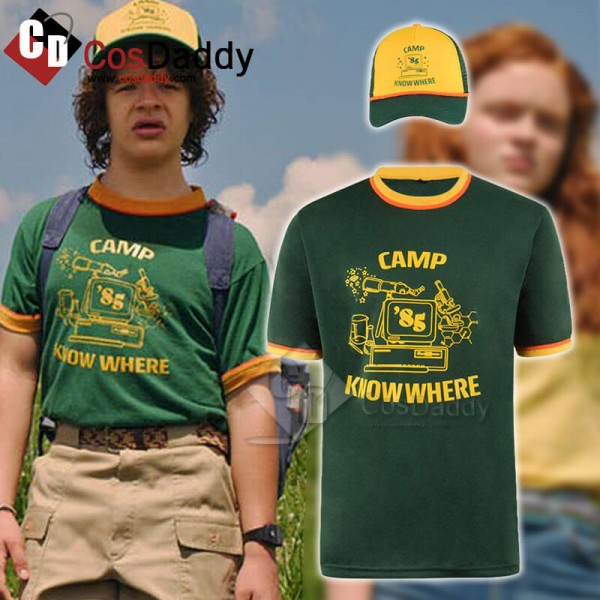 Stranger Things Dustin Shirt Camp Know Where Ringe...