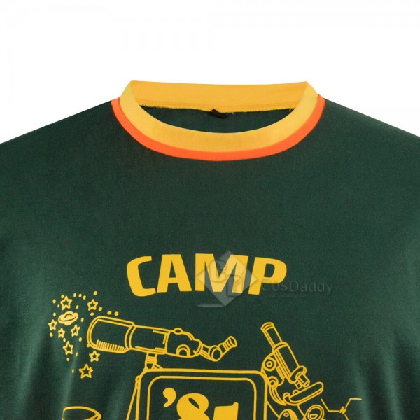 Stranger Things Dustin Shirt Camp Know Where Ringer Tee For Adults
