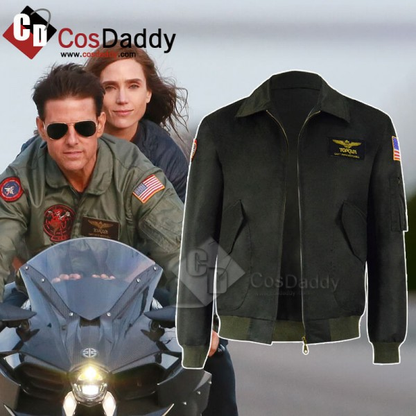 Top Gun Maverick Halloween Costume Nylon Jacket Fo...