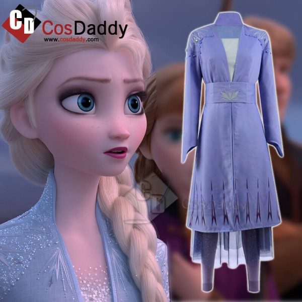 Disney Frozen 2 Queen Elsa Dress Cosplay Costume H...