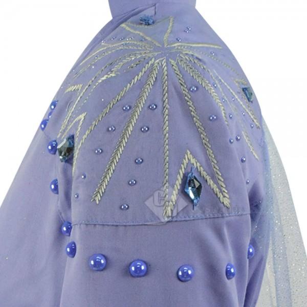 Disney Frozen 2 Queen Elsa Dress Cosplay Costume Halloween 2019