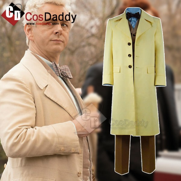 Good Omens Michael Sheen Coat Outfit Full Set Cosp...