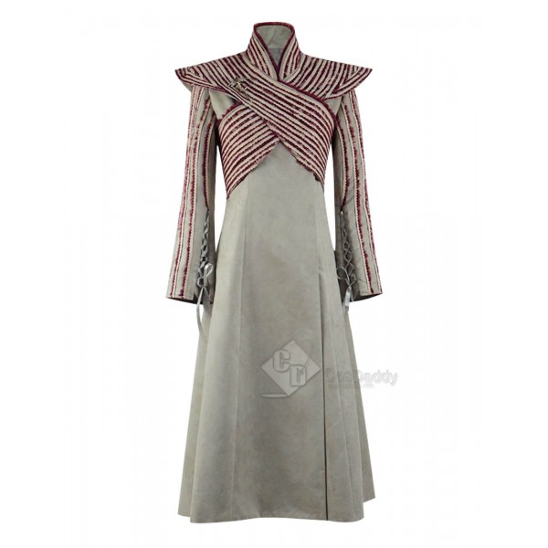 Game of Thrones Season 8 Mother of Dragons Daenerys Targaryen Dress Cape Cosplay Costume