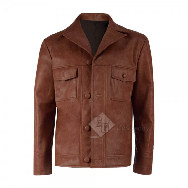 2019 Rick Dalton Once Upon A Time In Hollywood Brown Leather Blazer Jacket