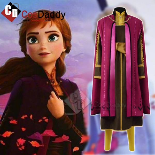 Halloween Frozen 2 Princess Anna Cosplay Costume F...