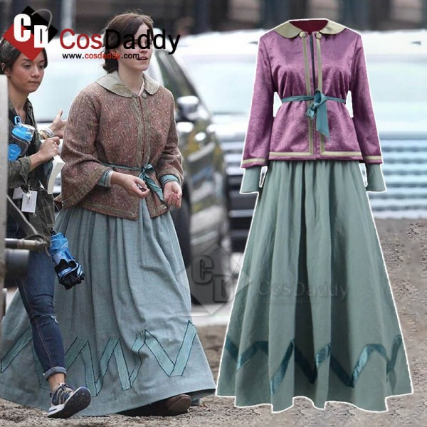 Little Women Emma Watson Dress Cosplay Costume Cos...