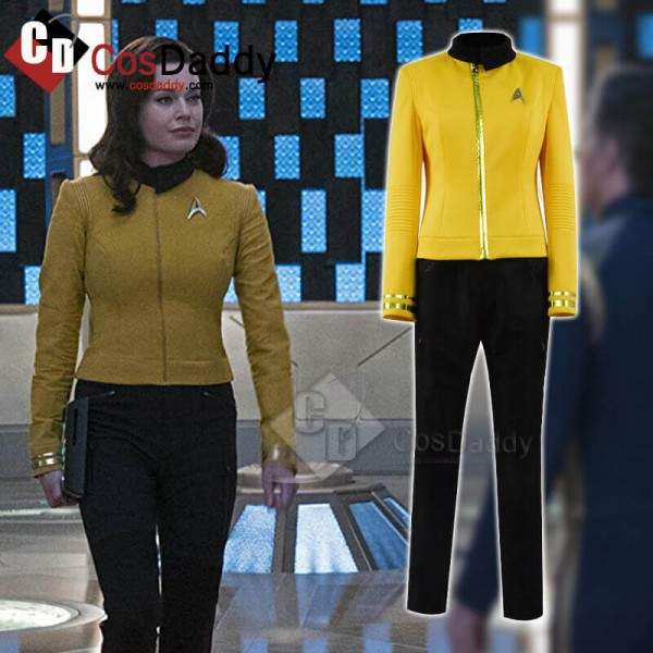 Women Star Trek Discovery Uniform Yellow Cosplay C...