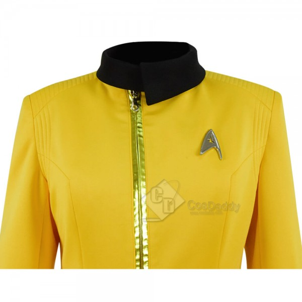 Women Star Trek Discovery Uniform Yellow Cosplay Costume For Sale
