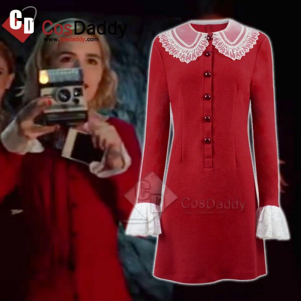 The Chilling Adventures of Sabrina Red Dress Cosplay Halloween Costume