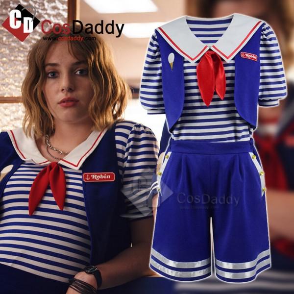 Stranger Things Season 3 Robin's Scoops Ahoy Uniform Halloween Costume
