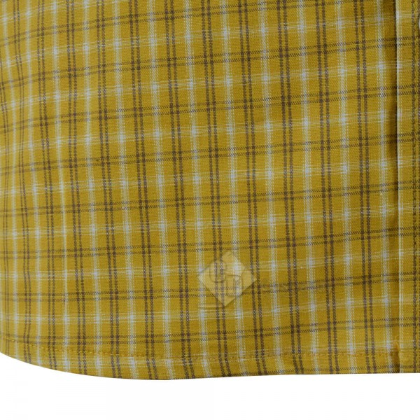 New Arrivals Cotton Yellow Plaid Shirt For Sale Cosdaddy