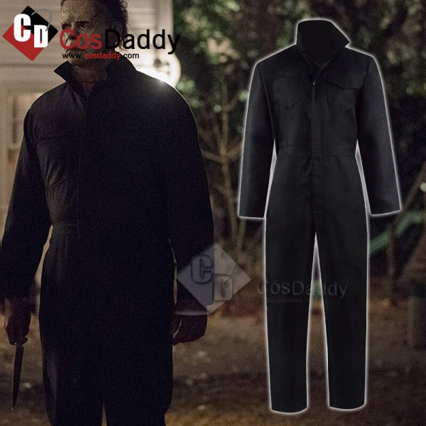 Halloween Michael Myers Jumpsuit Cosplay Costume A...