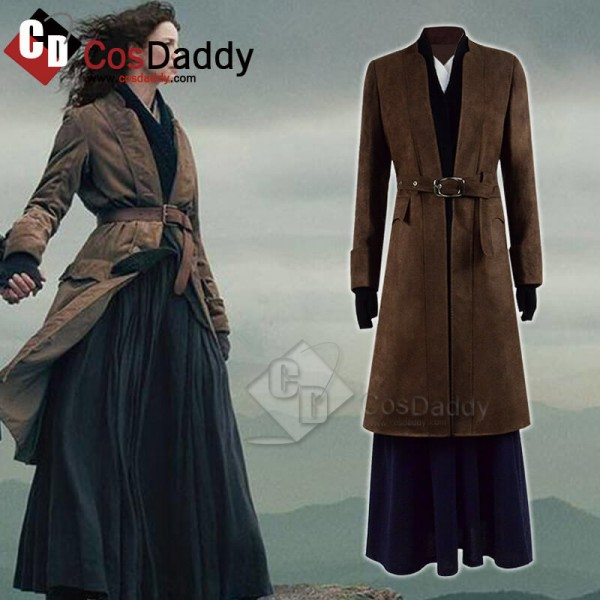 Outlander Season 4 Caitriona Balfe Dress Coat Full...