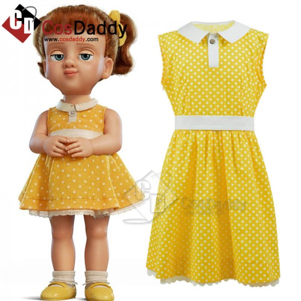 Disney Toy Story 4 Gabby Gabby Yellow Dress Cospla...
