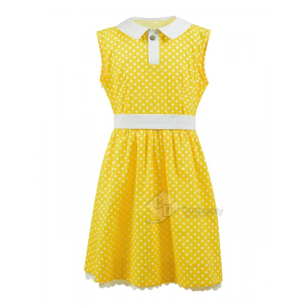 Disney Toy Story 4 Gabby Gabby Yellow Dress Cosplay Costume For Kids