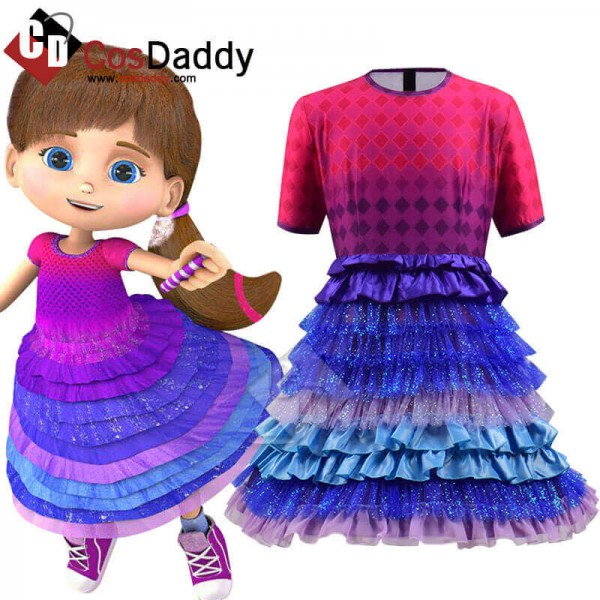 Wishenpoof Costume Halloween Bianca Dress Shirt Ki...