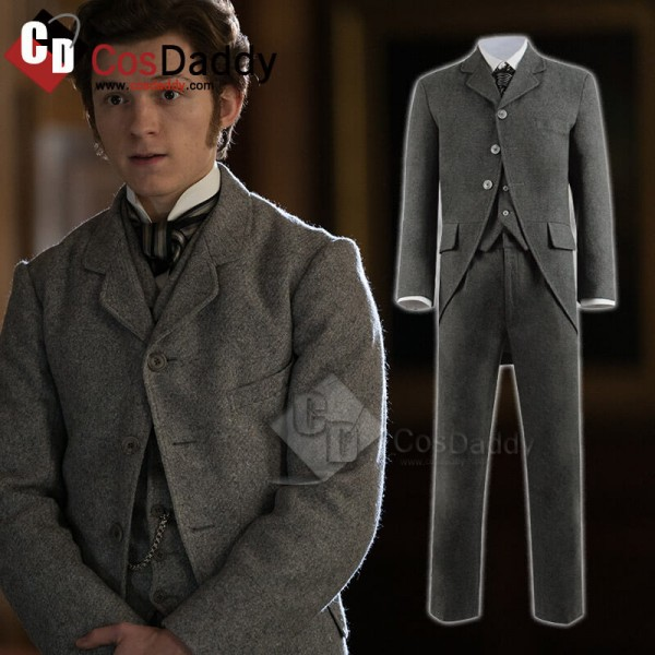 The Current War Tom Holland Uniform Suit Halloween Cosplay Costume CosDaddy