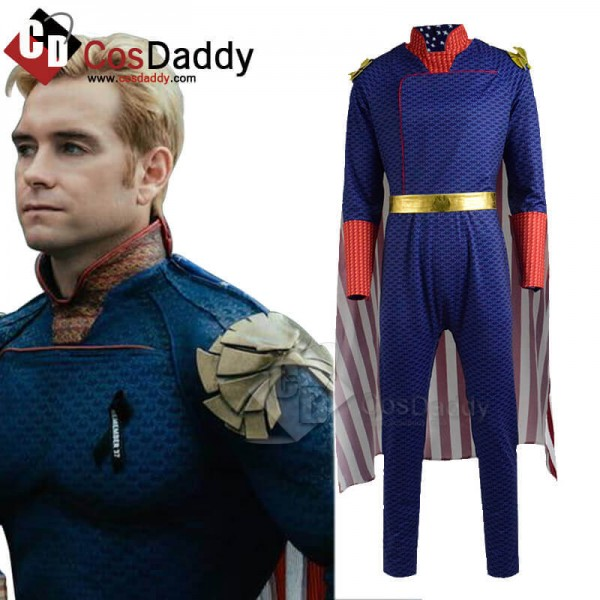 The Boys Homelander Cosplay Costume Halloween Men'...