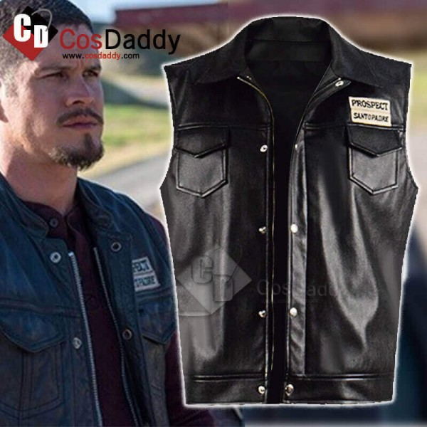 CosDaddy Mayans MC Ezekiel Reyes Leather Vest Coat...