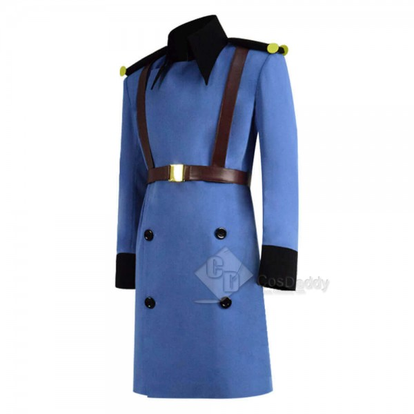 Anime Netflix's Klaus 2019 Christmas Blue Long Coat Jacket Cosplay Costume