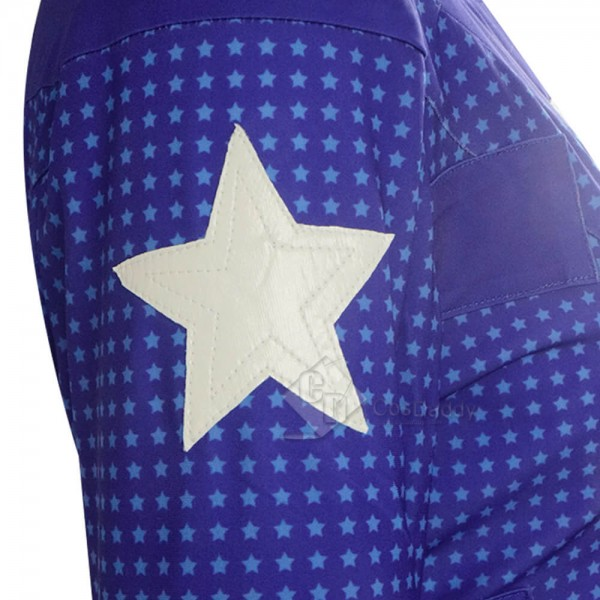 Blue DC Stargirl Courtney Whitmore Superhero Cosplay Costume