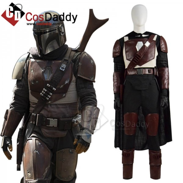 Star Wars The Mandalorian Cosplay Costume Cape Ide...