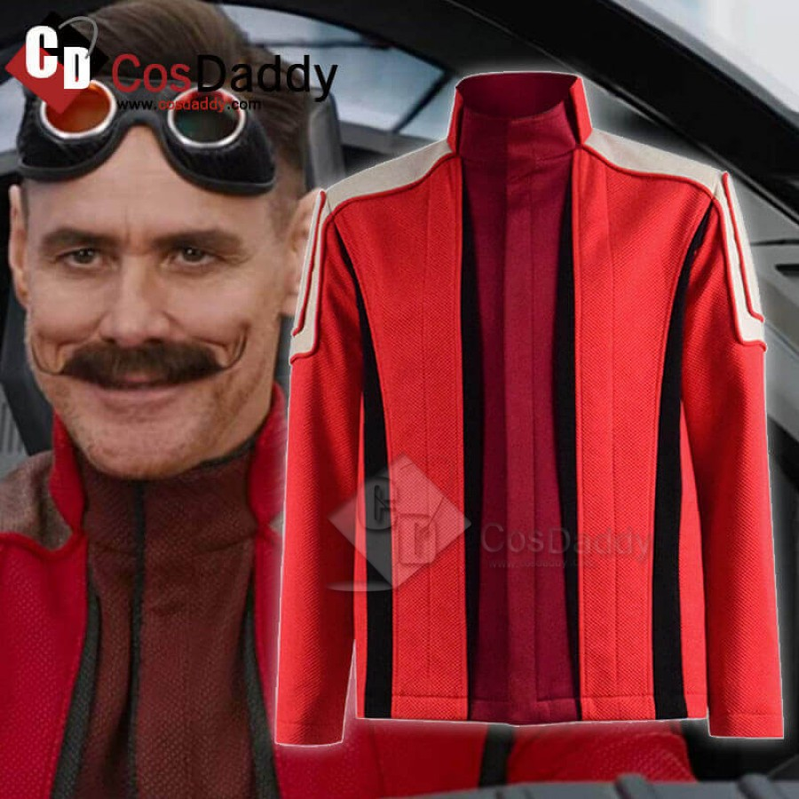 Mens Dr Ivo Robotnik Cosplay Costume Uniform for Halloween