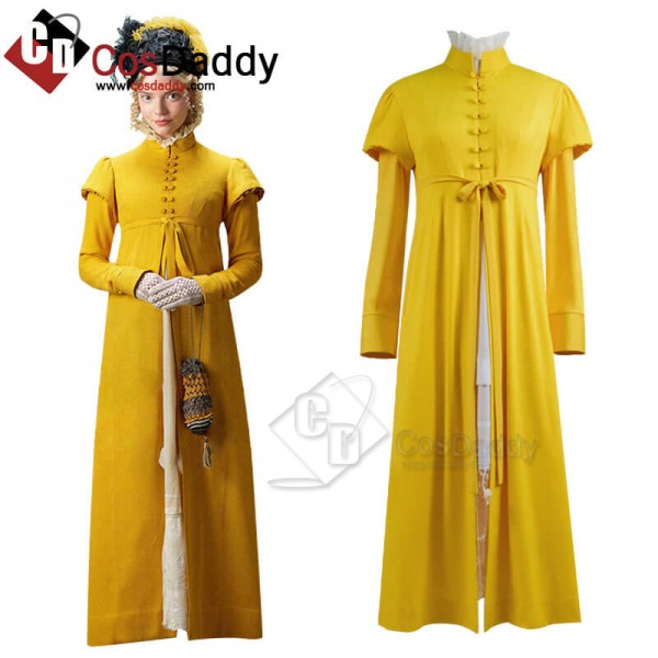 Emma 2020 Movie Emma Woodhouse Dress Cosplay Costu...