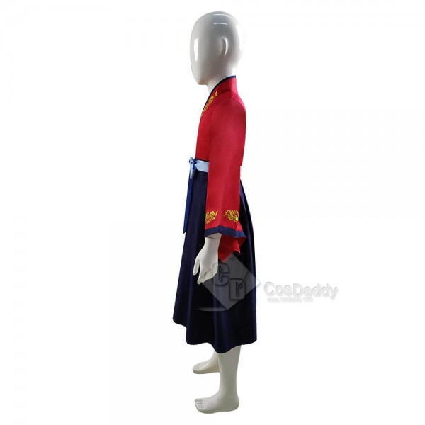 2020 Kids Hua Mulan Costume Disney Princess Girls Dress Cosplay