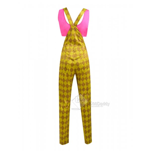 2020 DC Birds of Prey Harley Quinn Yellow Jumpsuit Shirt Cosplay Costume