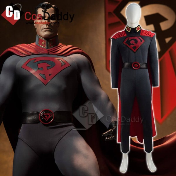 DC Comics Superman Red Son Costume Spandex Suit Co...
