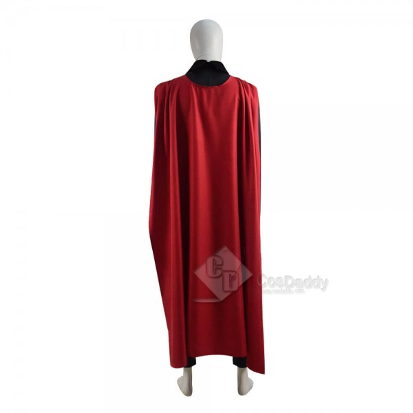 DC Comics Superman Red Son Costume Spandex Suit Cosplay With Cape