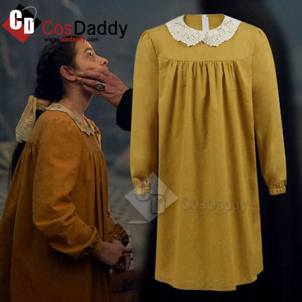 Best Kids Dracula 2020 Cosplay Yellow Dress Costum...