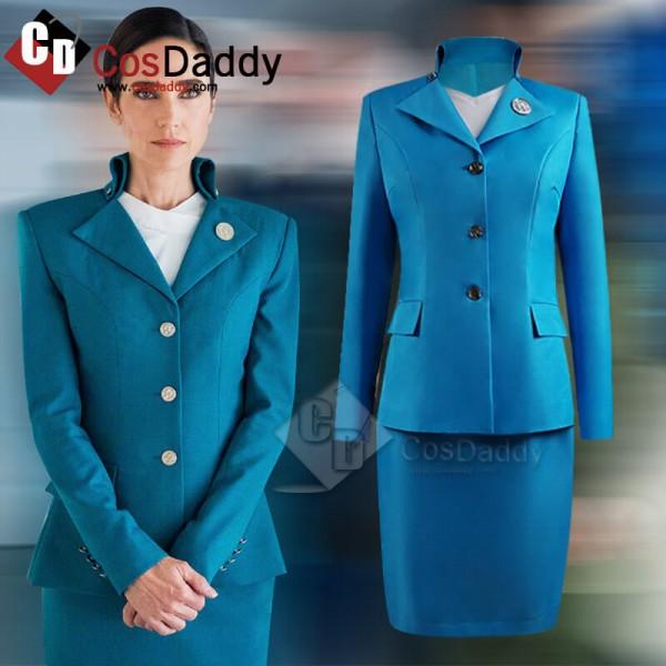 Snowpiercer Season 1 2020 Melanie Cavill Blue Uniform Suit Cosplay Costume