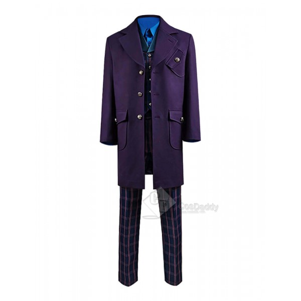 Doctor Who Series 12 The New Master Coat Sacha Dhawan Purple Outfit Suit