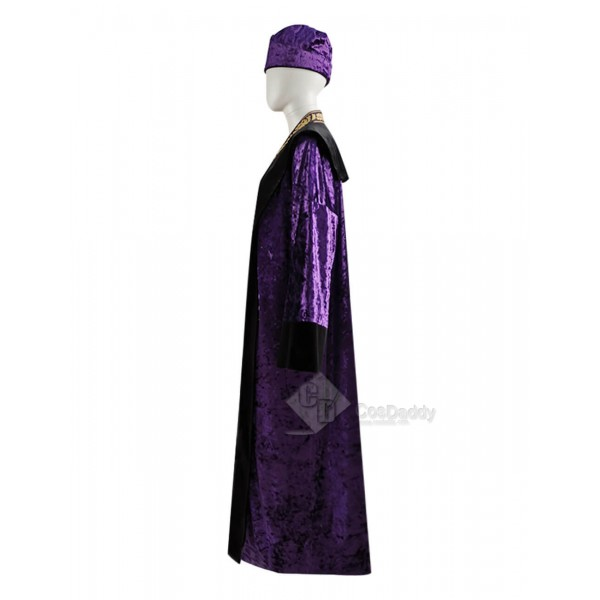 Harry Potter Albus Percival Wulfric Brian Dumbledore Purple Cosplay Costume Women