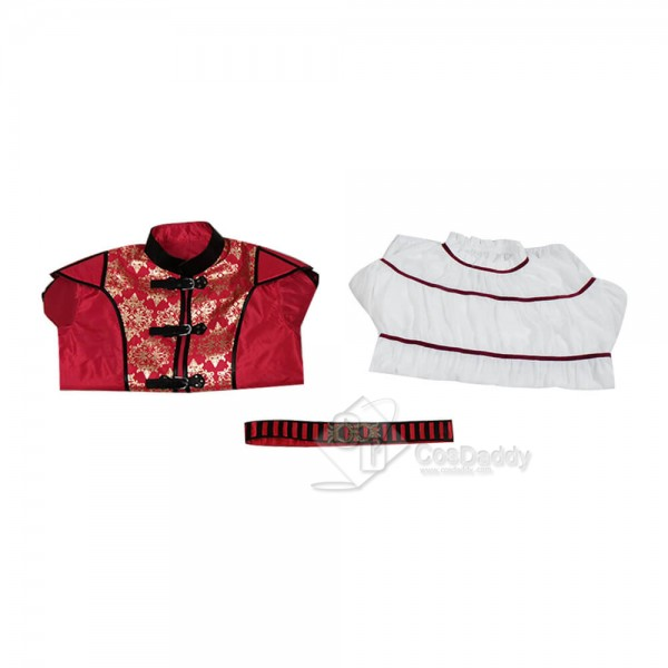 Miracle Workers Dark Ages Daniel Radcliffe Costume Red Uniform Cosplay 2020