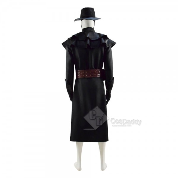 Halloween Plague Doctor Costume Outfit Cosplay Beak Mask Hat for sale