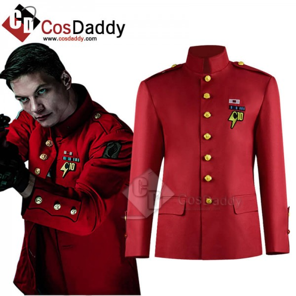 Cyborgs Universe Harry Holmes C10 Red Jacket Cosplay Costume