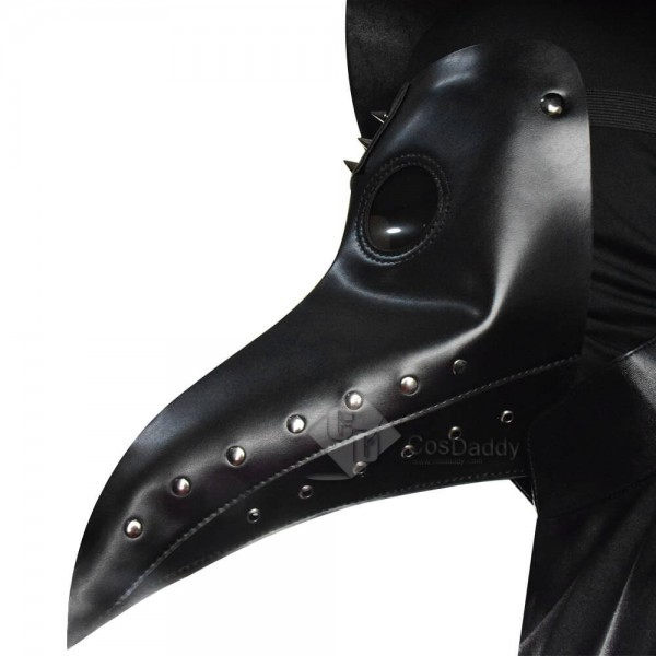 Plague Doctor Costume Hat Steampunk Bird Mask Halloween Cosplay Outfit