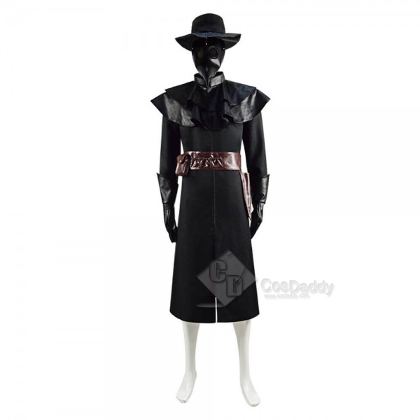 Plague Doctor Black Death Doctor Costume Men Halloween Cosplay Outfit