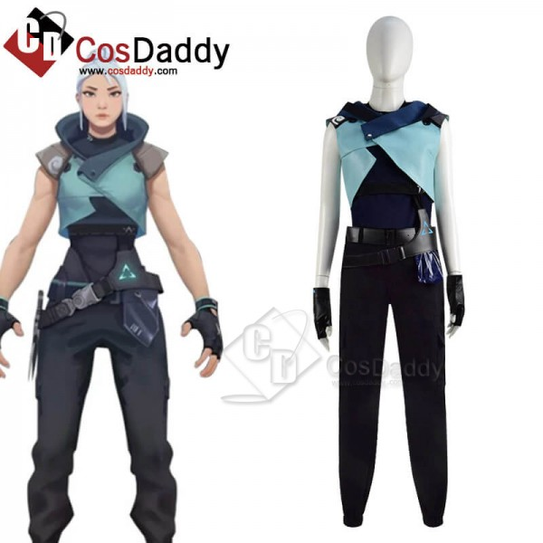 Buy Game Valorant Jett Cosplay Costume For Hallowe...