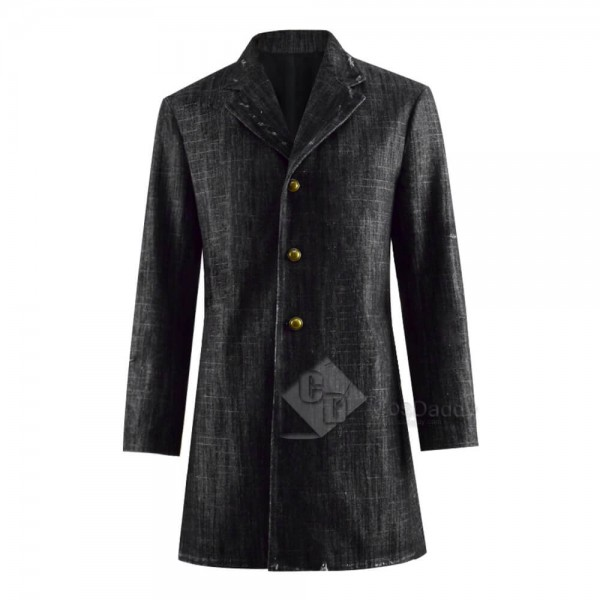 Cool 12th Doctor Peter Capaldi Denim Coat Jacket Cosplay Costume for Sale