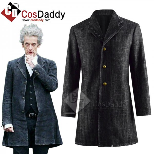 Cool 12th Doctor Peter Capaldi Denim Coat Jacket C...