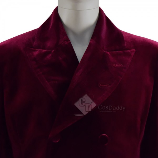 Doctor Who 4th Doctor Coat Double Breasted Velvet Cosplay Costume for Sale