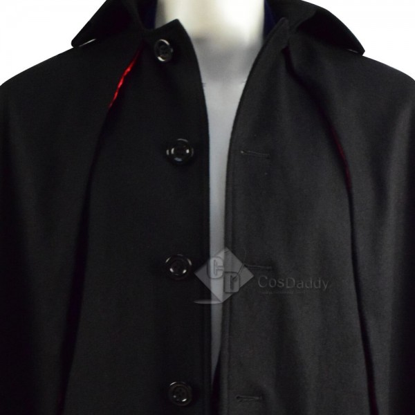 Doctor Who Third 3rd Doctor Cape Cloak Coat Cosplay Costume Outfit